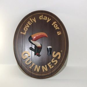 Guinness Oval Wood Wall Sign Toucan 3D
